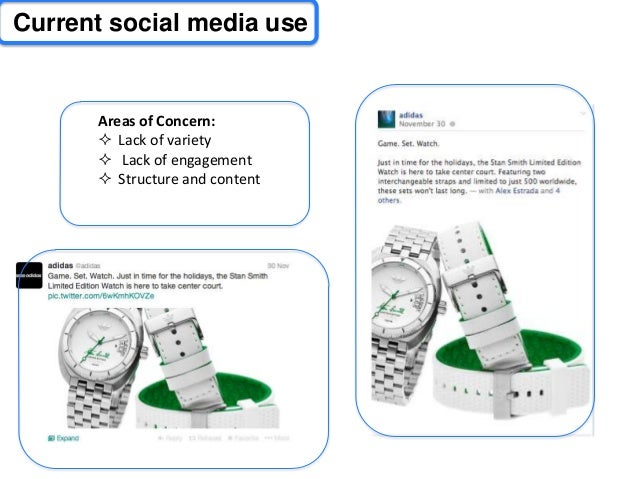 evaluate the effectiveness of adidas use of social media If your organization isn't using social media for employee communication, here are 10 reasons to reconsider:  reduce costs and increase productivity-- effective use of social media can .
