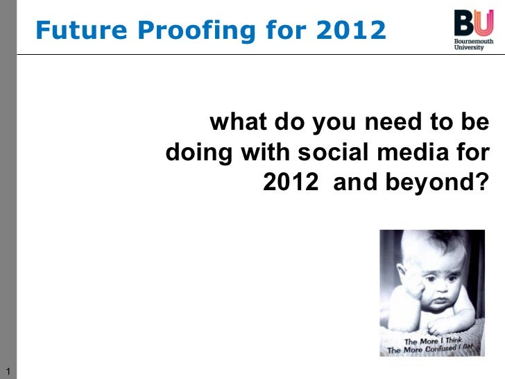 what do you need to be doing with social media for 2012  and beyond? Future Proofing for 2012