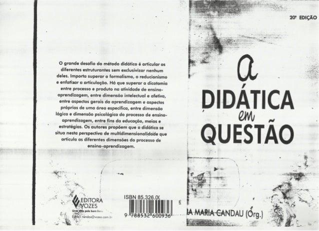 A Didática em Questão - Vera Maria Candu (Org)