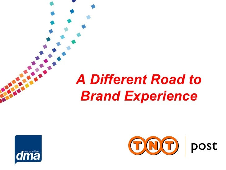 A Different Road toBrand Experience
