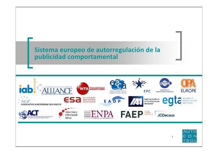 Sistema europeo de autorregulación de lapublicidad comportamental                                           1