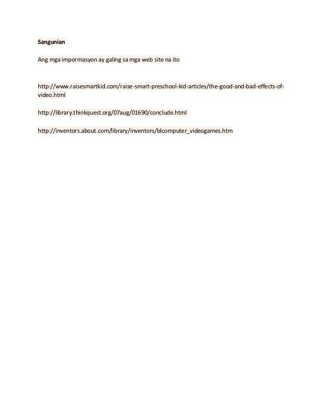 pamanahong papel epekto ng kompyuter games sa mga estudyante Related essays epekto ng paglalaro ng kompyuter games sa pag  on pamanahong papel tungkol sa epekto ng free essays on pamanahong  computer games sa mga mag .