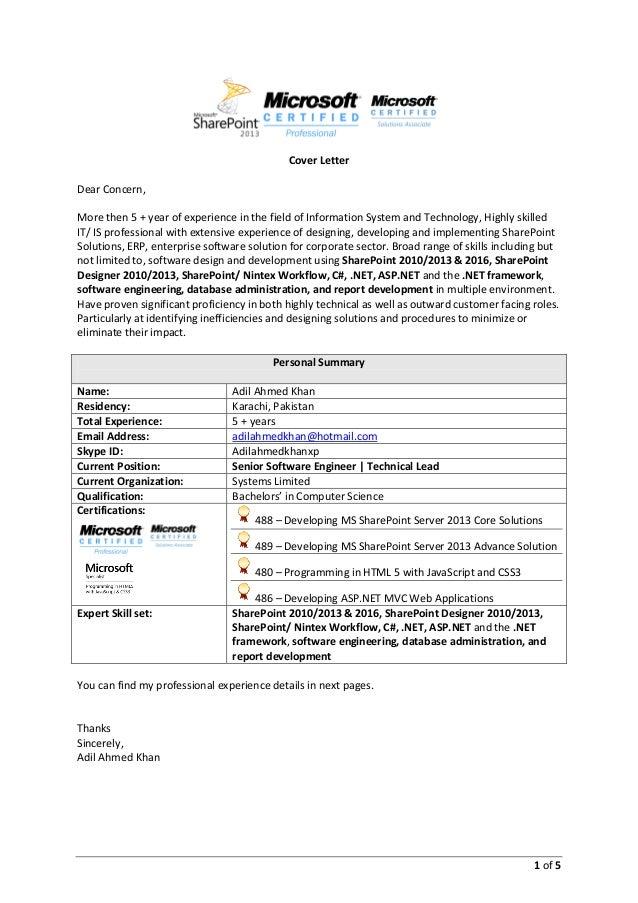 adil ahmed khan senior software engineer sharepoint