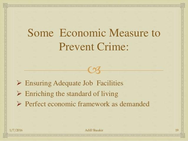 economic causes of crime
