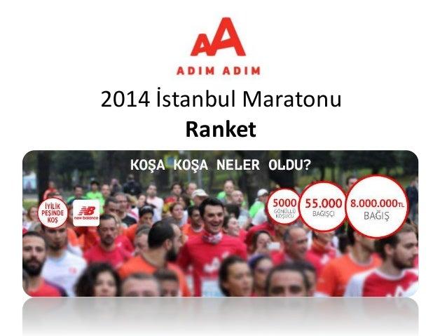 2014 İstanbul Maratonu Ranket