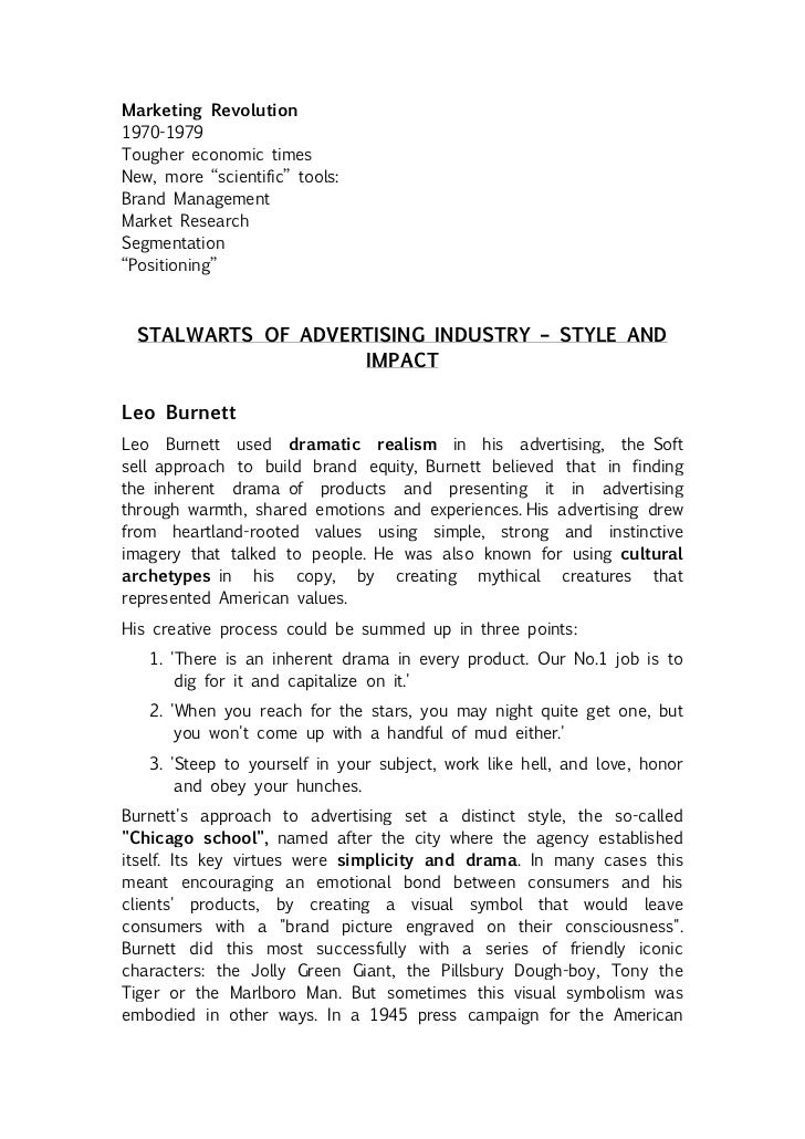 Advertising industry - Structure & practices