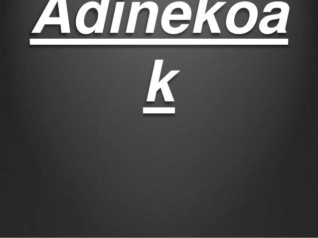 Adinekoa k
