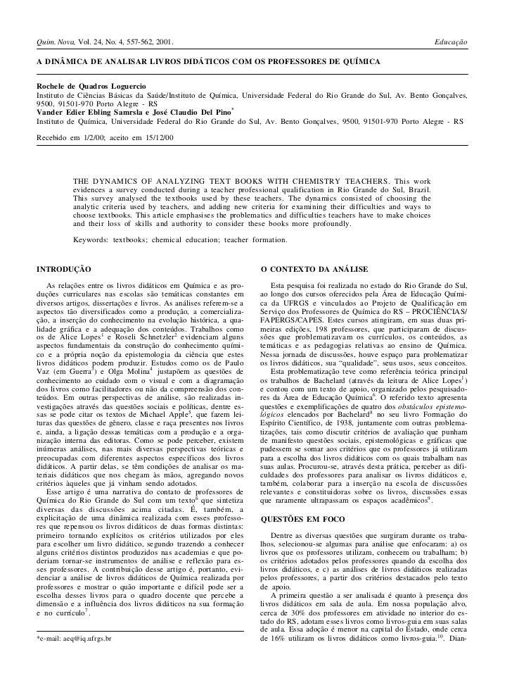 Quim. Nova, Vol. 24, No. 4, 557-562, 2001.                                                                                ...