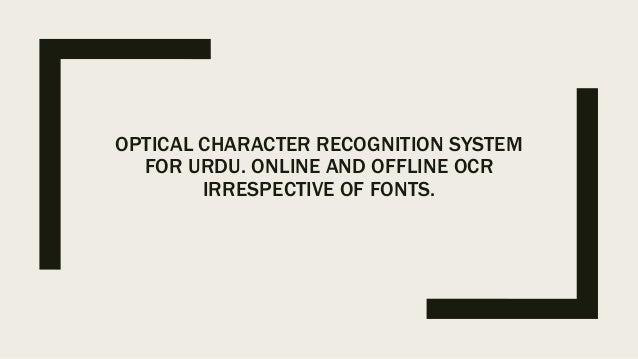 OCR for Urdu translation