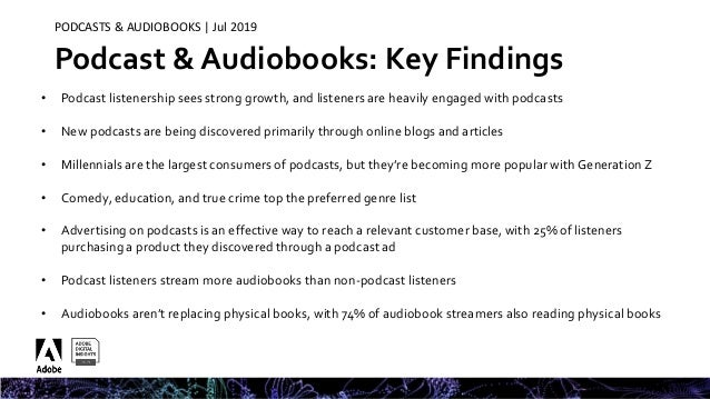 Adobe Digital Insights -- Podcast & Audiobook Insights 2019