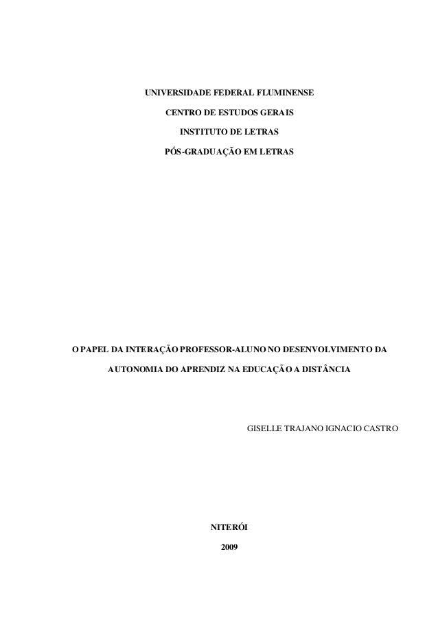 UNIVERSIDADE FEDERAL FLUMINENSE                 CENTRO DE ESTUDOS GERAIS                   INSTITUTO DE LETRAS            ...