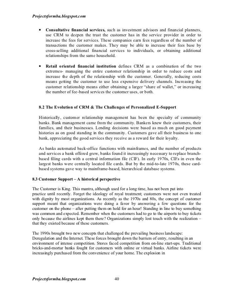 CRM Dissertation Help & Writing Service