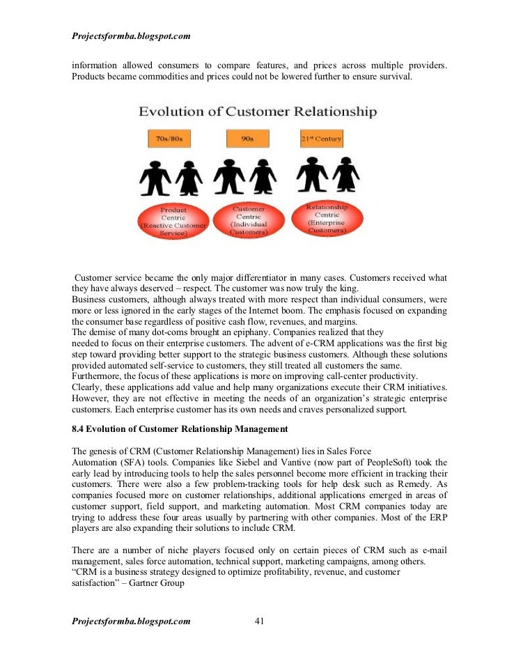Customer relationship management system thesis