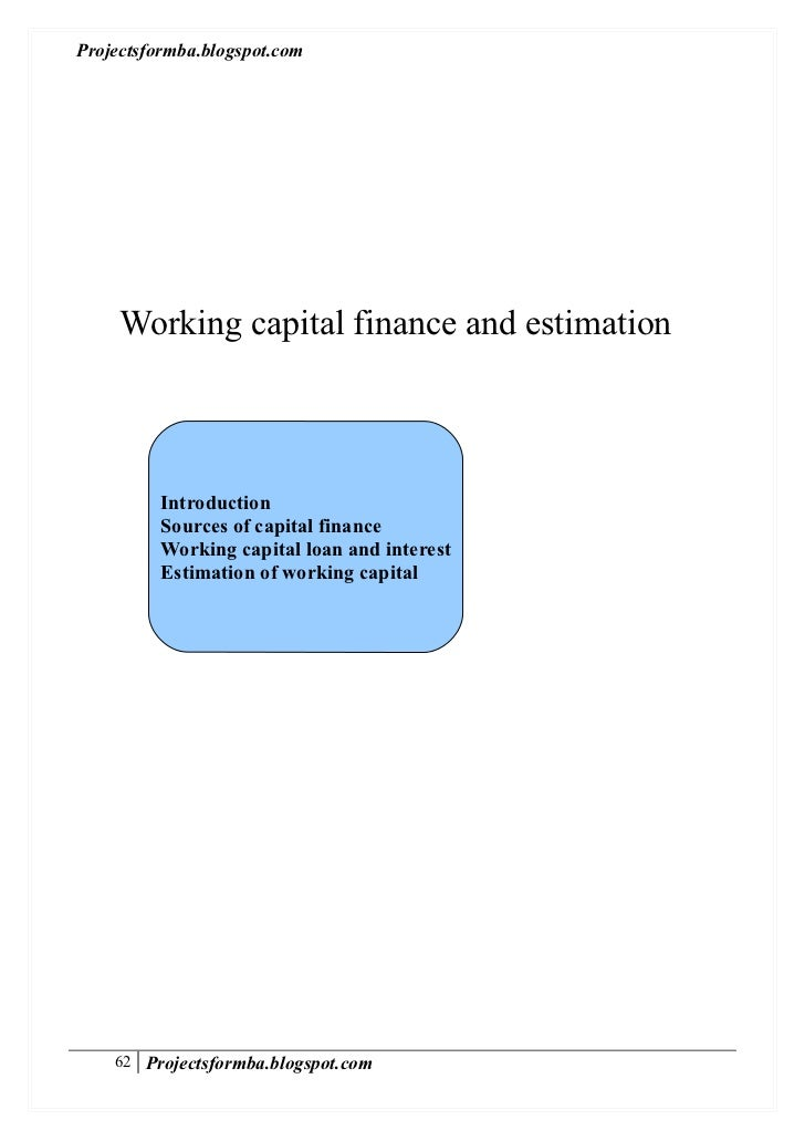 Dissertation report on working capital management