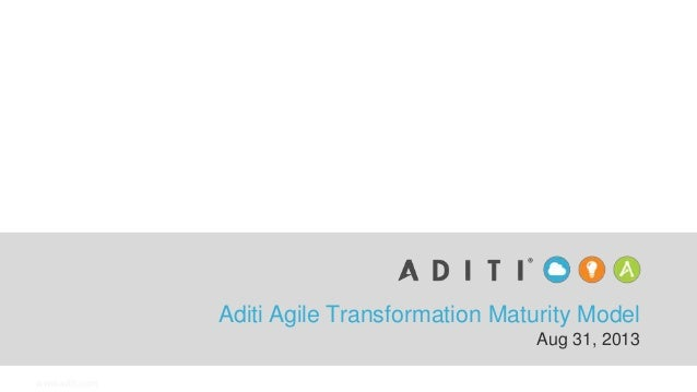 www.aditi.com Aditi Agile Transformation Maturity Model Aug 31, 2013
