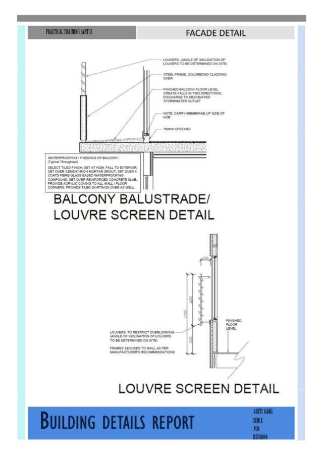 Building construction-Building detail study report Slide 2