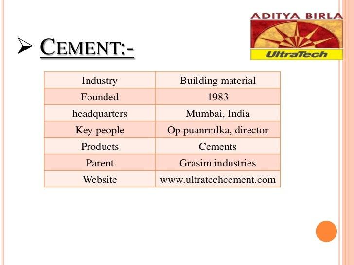 Ultratech Cement Market : Aditya birla group