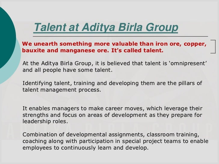 training methods in aditya birla group Programs focus on providing each one of our employees with ample learning,   abc has instituted several awards at business and group levels to recognize.