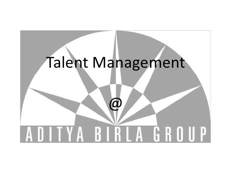 Talent Management         @