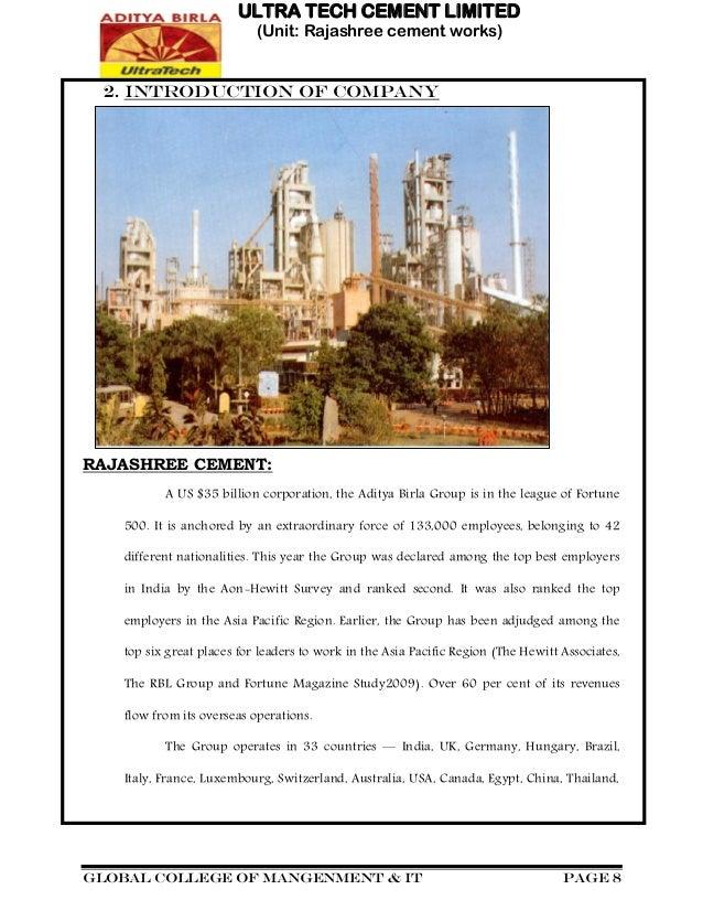 Chittorgarh Birla Cement Works : Aditya birla ultratech cement