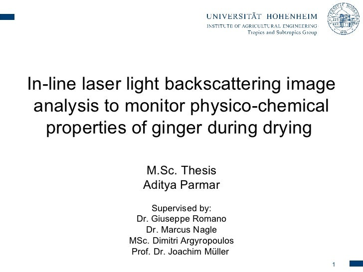 In-line laser light backscattering image analysis to monitor physico-chemical   properties of ginger during drying        ...