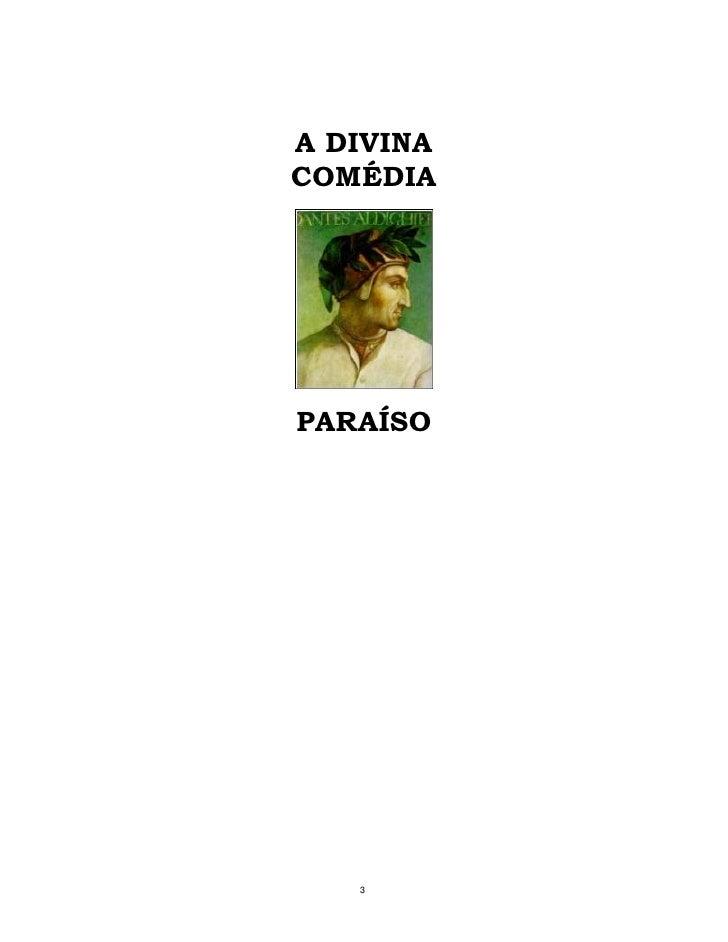 A divina comédia   paraiso