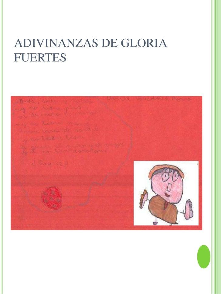 ADIVINANZAS DE GLORIAFUERTES