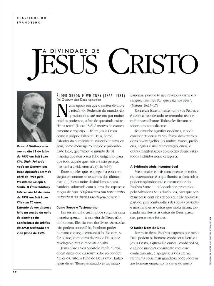 A Divindade de Jesus Cristo - Clássicos do Evangelho