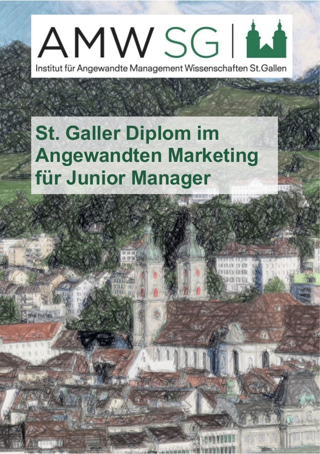 St. Galler Diplom im  Angewandten Marketing  für Junior Manager