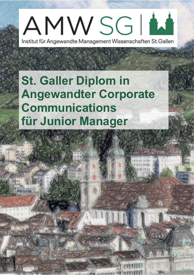 St. Galler Diplom in  Angewandter Corporate  Communications  für Junior Manager