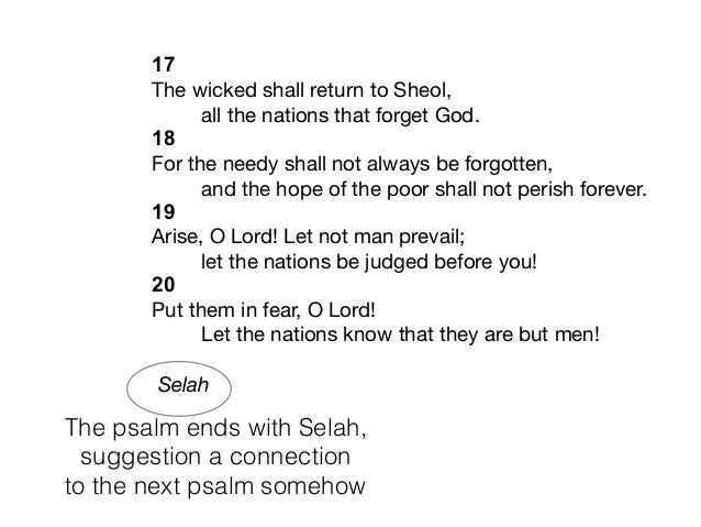 Adjacent psalms that tell a story part 12 - Psalm 9 and 10