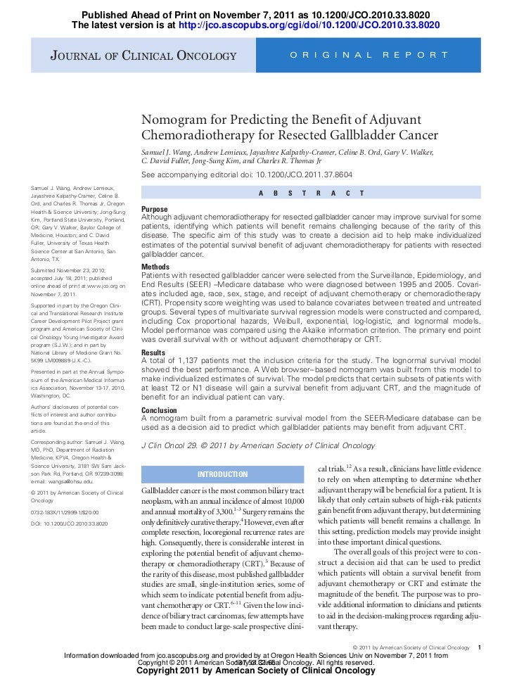 Published Ahead of Print on November 7, 2011 as 10.1200/JCO.2010.33.8020                 The latest version is at http://j...