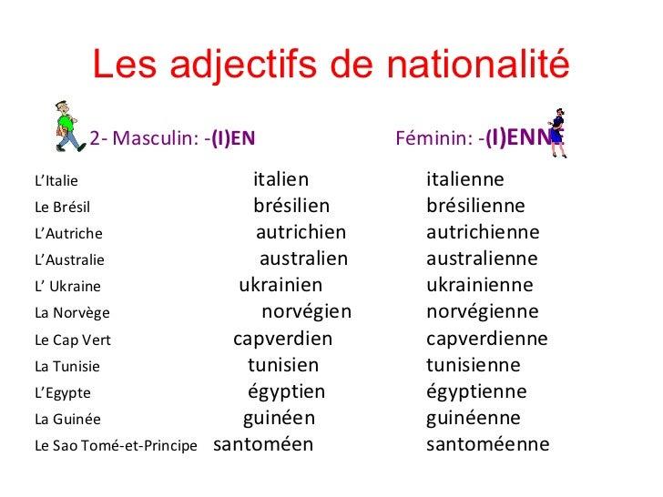 les adjectifs Leçon et exercices de grammaire : identifier les adjectifs qualificatifs.