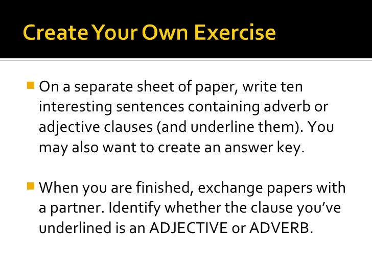 adj and adv clauses
