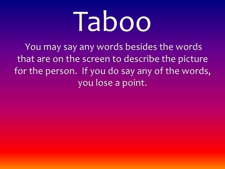 Powerpoint Taboo
