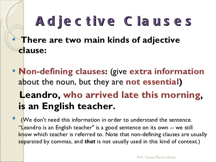 adjective clause definition