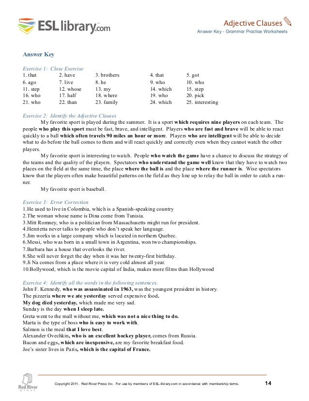 Esl Library Grammar Practice Worksheets – Grammar Practice Worksheets