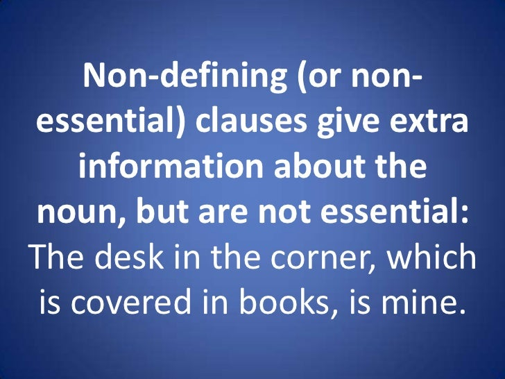 Essential and Nonessential Adjective Clauses Examples