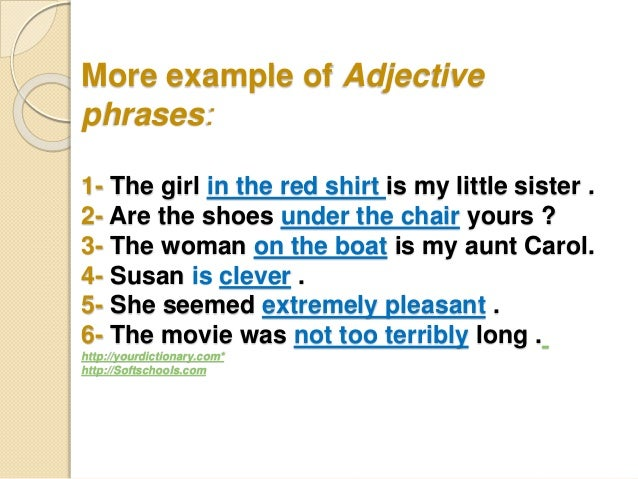 Phrases types, prepositional, appositive, absolute & examples.