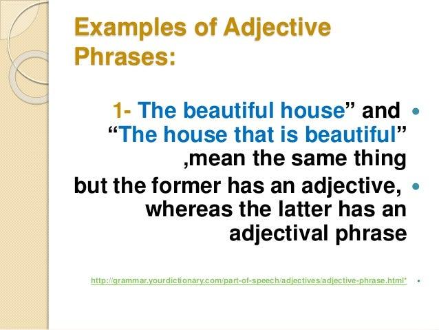 Grammar: opening adjectives & adverbs.