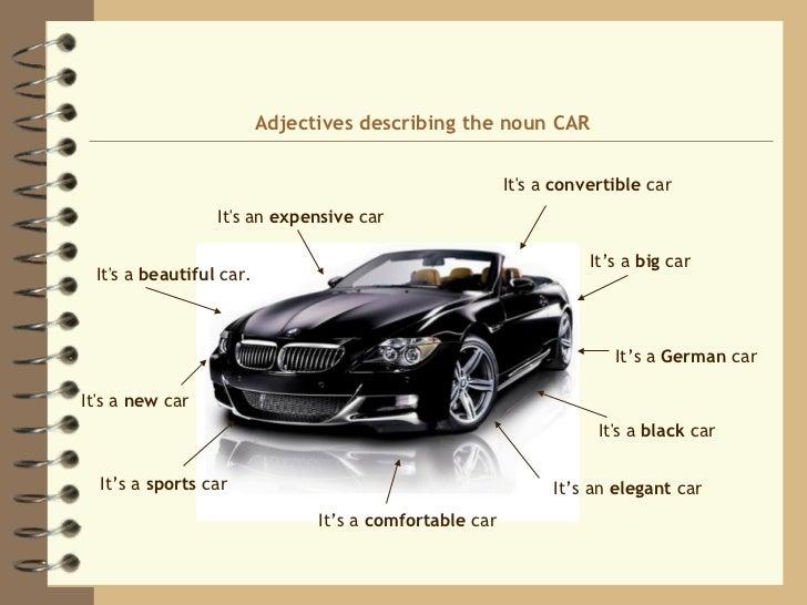 Adjectives To Describe A Car