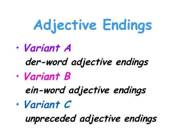 German Grammer Adjectives ( Traum Academy Kadavanthra) 9745539266 Slide 3
