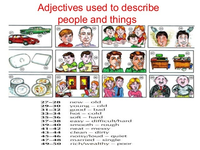Adjectives describing appearance and personality