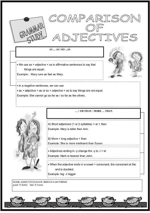 Adjectives Comparative Homework English Worksheet – Adjectives That Compare Worksheets