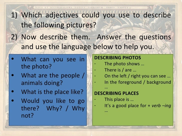 adjectives to describe places pdf