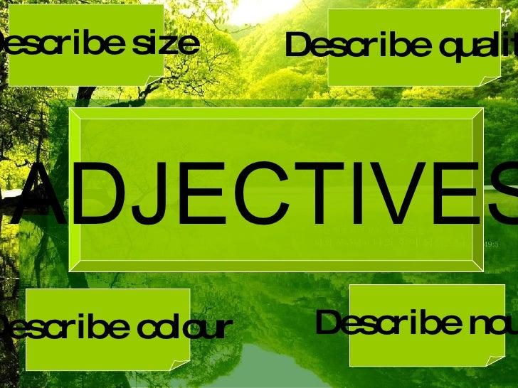 Adjectives Slides