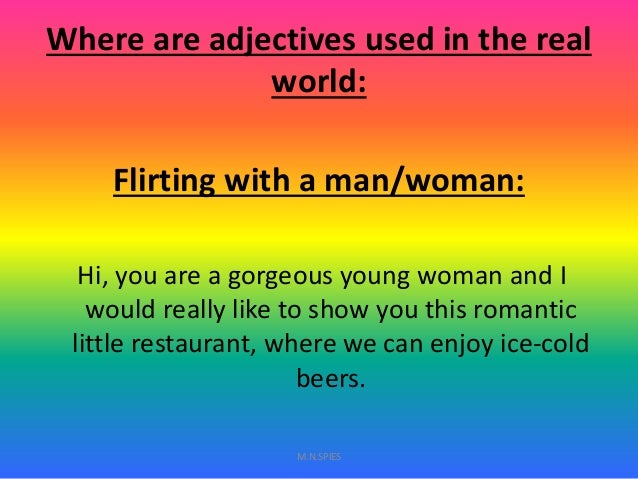 Flirty adjectives