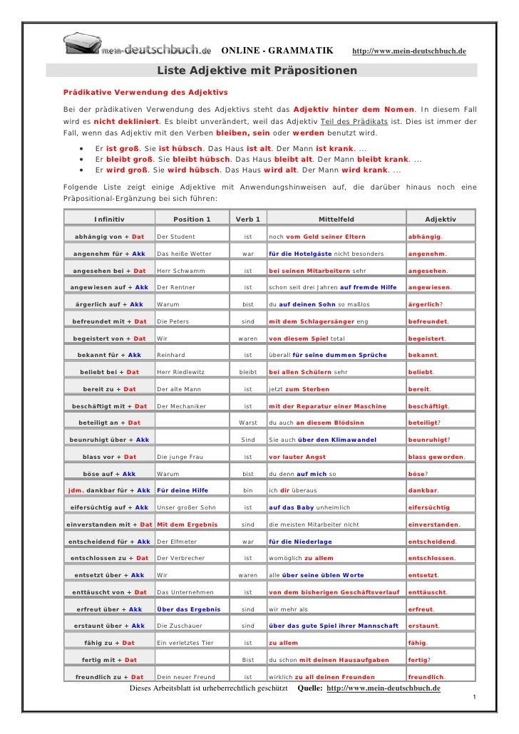 steigerung adjektive englisch tabelle