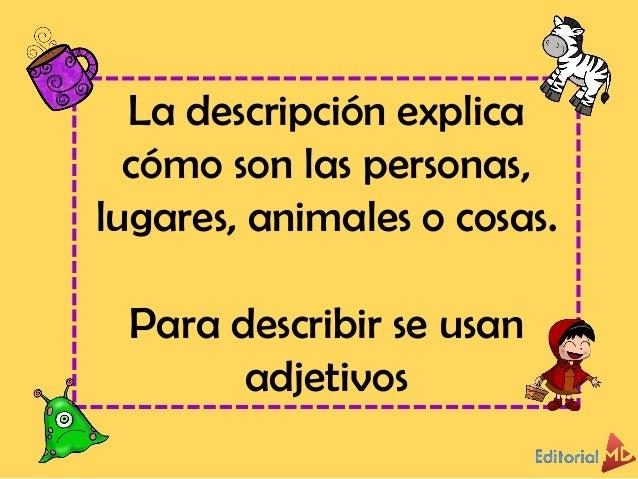 Adjetivos calificativos para niños Slide 3