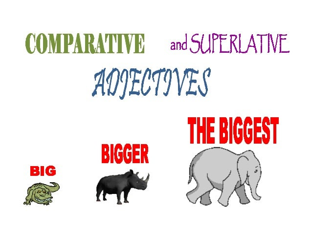 WHEN TO USE COMPARATIVE AND SUPERLATIVE ADJECTIVES Degrees of Adjectives • Adjectives can express degrees of modification:...